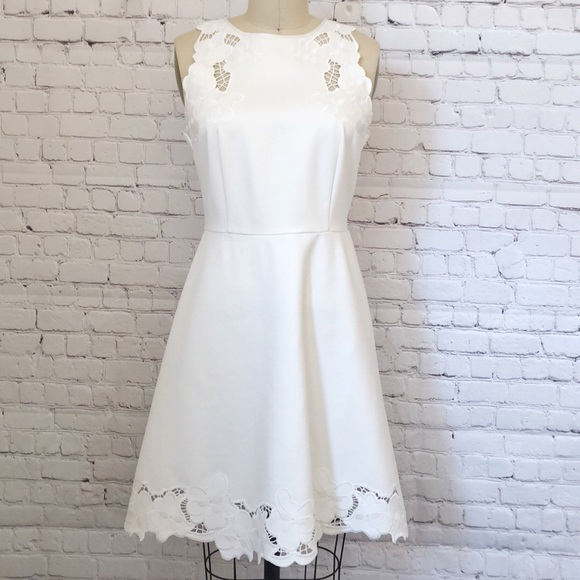 d010208ab4 Ted Baker White Emmona Embroidered Skater Dress 👗.  M 5ba812cc03087c9ac6a06f5d